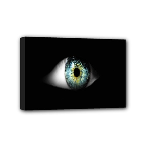 Eye On The Black Background Mini Canvas 6  X 4