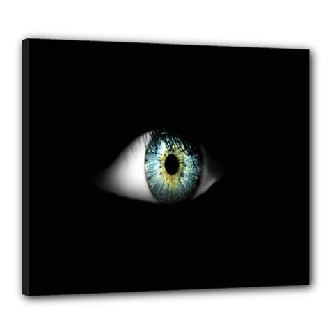 Eye On The Black Background Canvas 24  x 20