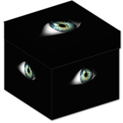 Eye On The Black Background Storage Stool 12
