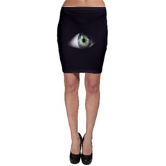 Eye On The Black Background Bodycon Skirt