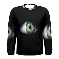 Eye On The Black Background Men s Long Sleeve Tee