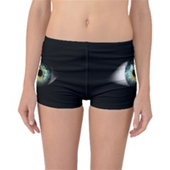 Eye On The Black Background Boyleg Bikini Bottoms