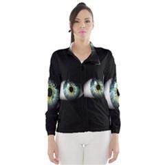 Eye On The Black Background Wind Breaker (Women)