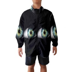 Eye On The Black Background Wind Breaker (Kids)