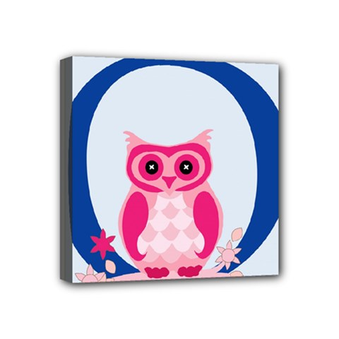 Alphabet Letter O With Owl Illustration Ideal For Teaching Kids Mini Canvas 4  X 4