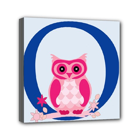 Alphabet Letter O With Owl Illustration Ideal For Teaching Kids Mini Canvas 6  X 6