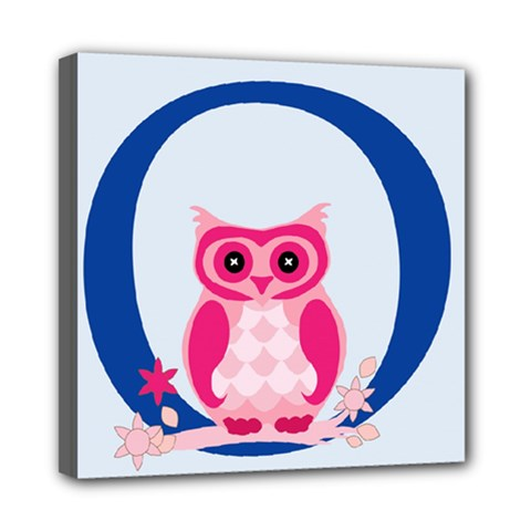 Alphabet Letter O With Owl Illustration Ideal For Teaching Kids Mini Canvas 8  x 8