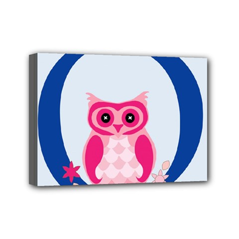 Alphabet Letter O With Owl Illustration Ideal For Teaching Kids Mini Canvas 7  x 5
