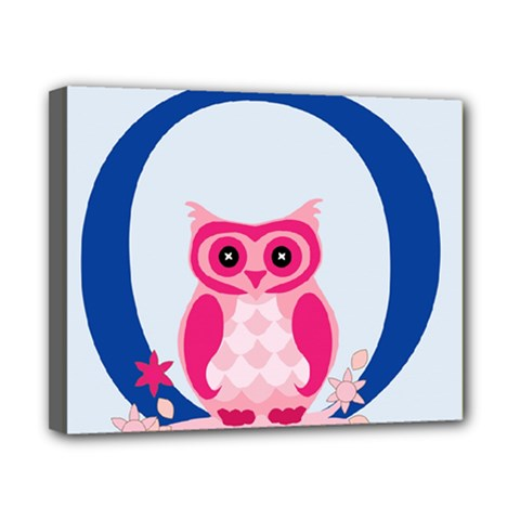 Alphabet Letter O With Owl Illustration Ideal For Teaching Kids Canvas 10  x 8
