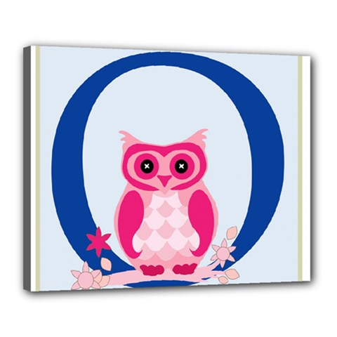 Alphabet Letter O With Owl Illustration Ideal For Teaching Kids Canvas 20  x 16