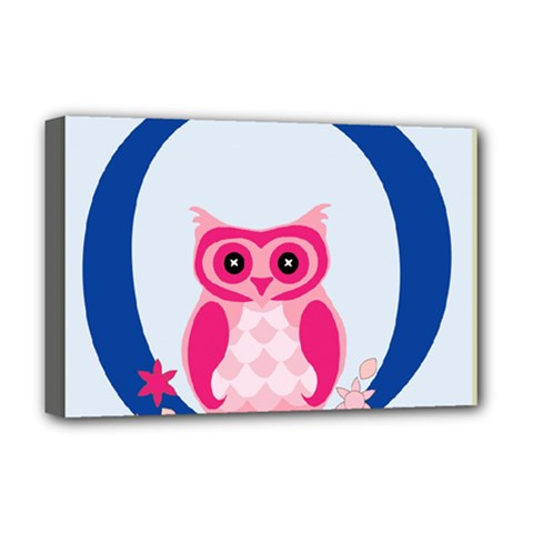 Alphabet Letter O With Owl Illustration Ideal For Teaching Kids Deluxe Canvas 18  x 12
