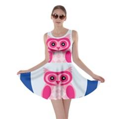 Alphabet Letter O With Owl Illustration Ideal For Teaching Kids Skater Dress