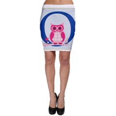 Alphabet Letter O With Owl Illustration Ideal For Teaching Kids Bodycon Skirt