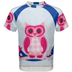 Alphabet Letter O With Owl Illustration Ideal For Teaching Kids Men s Cotton Tee