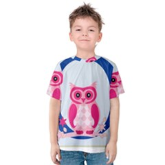 Alphabet Letter O With Owl Illustration Ideal For Teaching Kids Kids  Cotton Tee