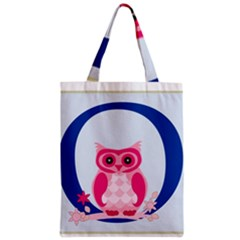 Alphabet Letter O With Owl Illustration Ideal For Teaching Kids Zipper Classic Tote Bag