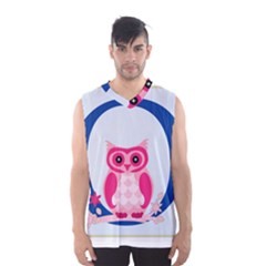Alphabet Letter O With Owl Illustration Ideal For Teaching Kids Men s Basketball Tank Top