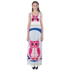Alphabet Letter O With Owl Illustration Ideal For Teaching Kids Empire Waist Maxi Dress