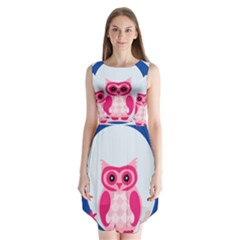 Alphabet Letter O With Owl Illustration Ideal For Teaching Kids Sleeveless Chiffon Dress