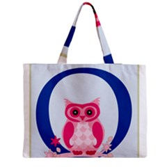 Alphabet Letter O With Owl Illustration Ideal For Teaching Kids Medium Zipper Tote Bag