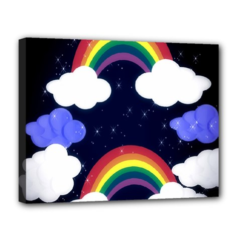 Rainbow Animation Canvas 14  X 11