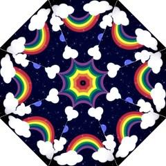 Rainbow Animation Hook Handle Umbrellas (Large)