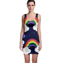 Rainbow Animation Sleeveless Bodycon Dress