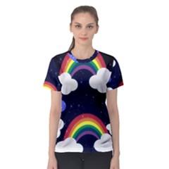 Rainbow Animation Women s Sport Mesh Tee