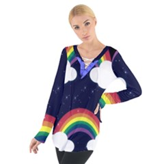 Rainbow Animation Women s Tie Up Tee