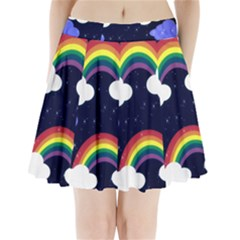Rainbow Animation Pleated Mini Skirt