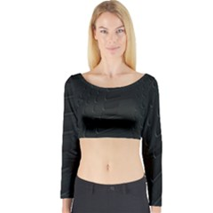 Abstract Clutter Long Sleeve Crop Top