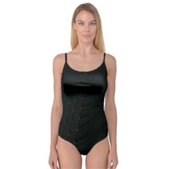 Abstract Clutter Camisole Leotard
