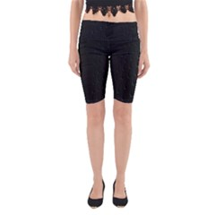 Abstract Clutter Yoga Cropped Leggings