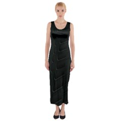 Abstract Clutter Fitted Maxi Dress