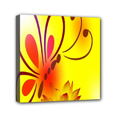 Butterfly Background Wallpaper Texture Mini Canvas 6  x 6