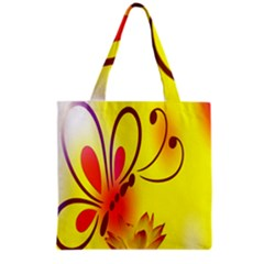Butterfly Background Wallpaper Texture Grocery Tote Bag