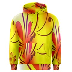 Butterfly Background Wallpaper Texture Men s Pullover Hoodie