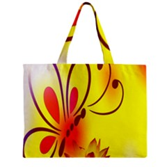Butterfly Background Wallpaper Texture Zipper Mini Tote Bag