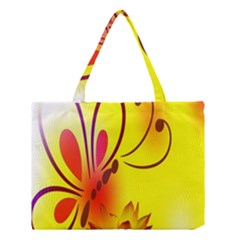 Butterfly Background Wallpaper Texture Medium Tote Bag