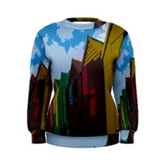 Brightly Colored Dressing Huts Women s Sweatshirt