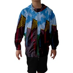 Brightly Colored Dressing Huts Hooded Wind Breaker (kids)