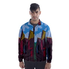 Brightly Colored Dressing Huts Wind Breaker (men)