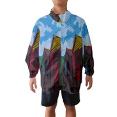 Brightly Colored Dressing Huts Wind Breaker (kids)