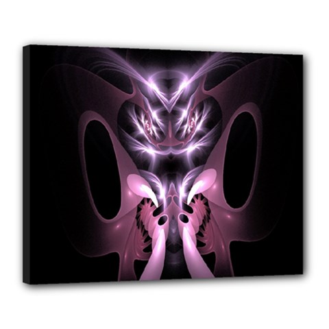 Angry Mantis Fractal In Shades Of Purple Canvas 20  X 16