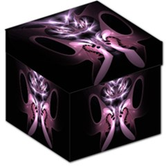 Angry Mantis Fractal In Shades Of Purple Storage Stool 12