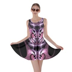Angry Mantis Fractal In Shades Of Purple Skater Dress