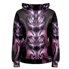 Angry Mantis Fractal In Shades Of Purple Women s Pullover Hoodie