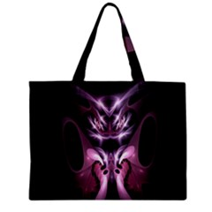 Angry Mantis Fractal In Shades Of Purple Zipper Mini Tote Bag