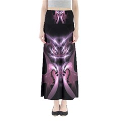 Angry Mantis Fractal In Shades Of Purple Maxi Skirts