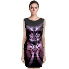 Angry Mantis Fractal In Shades Of Purple Classic Sleeveless Midi Dress
